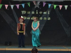 Charlie performed 'A whole new world' from Aladdin with Amy from Y4