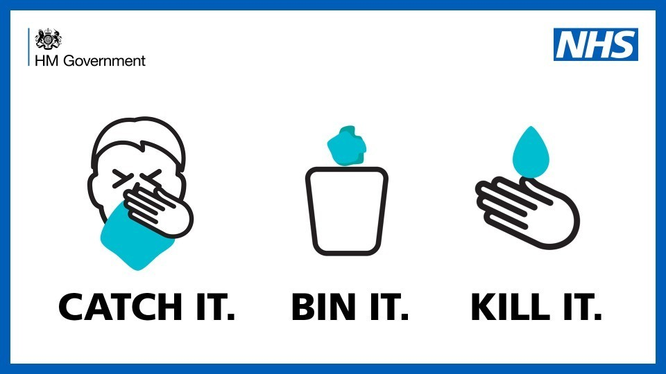 Catch it, Bin it, Kill it' to prevent the spread of respiratory ...