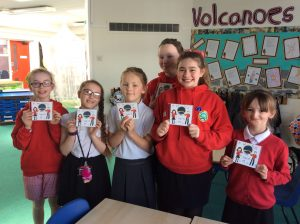 Some of the children recieving their CD.